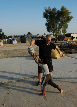 Expats bring rugby to displaced children in Iraq